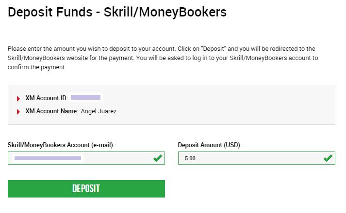depositar en broker